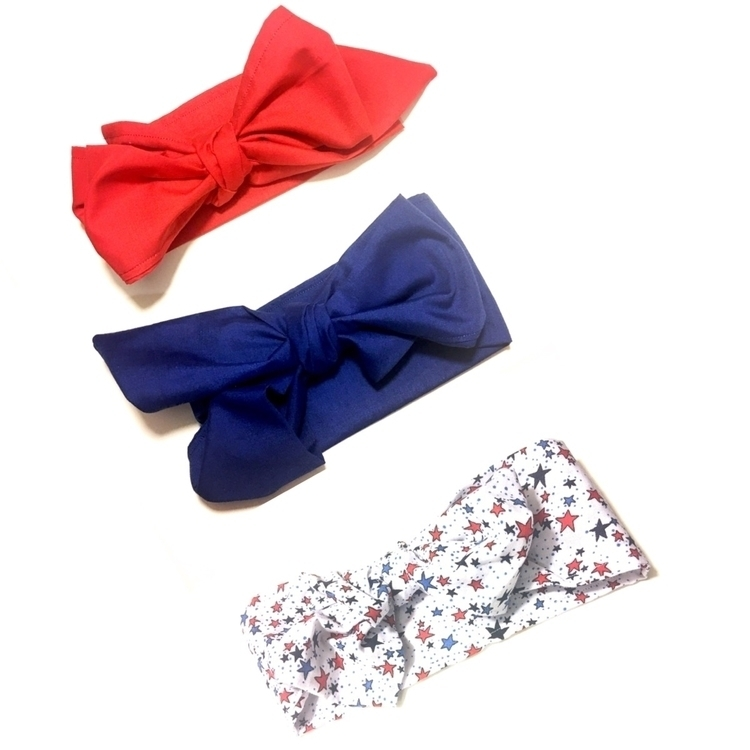 Red White Blue Classic Cherry H - uptowngirlbowtique | ello