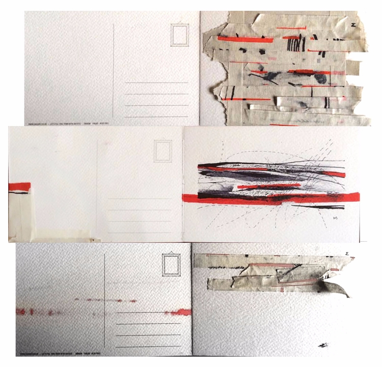 postcards filled - art, sketchbook - mervesahin | ello