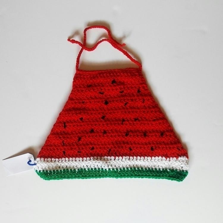 watermelon crop top - summer, crocheted - hookitupcrochet | ello