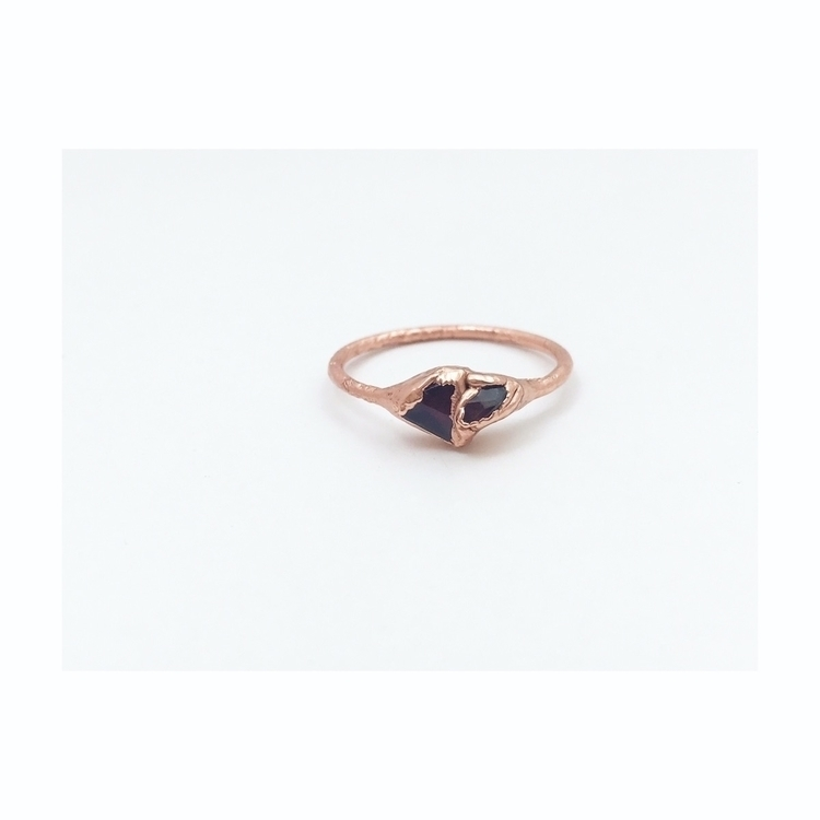 Garnet electroformed rings shop - phasecollection | ello