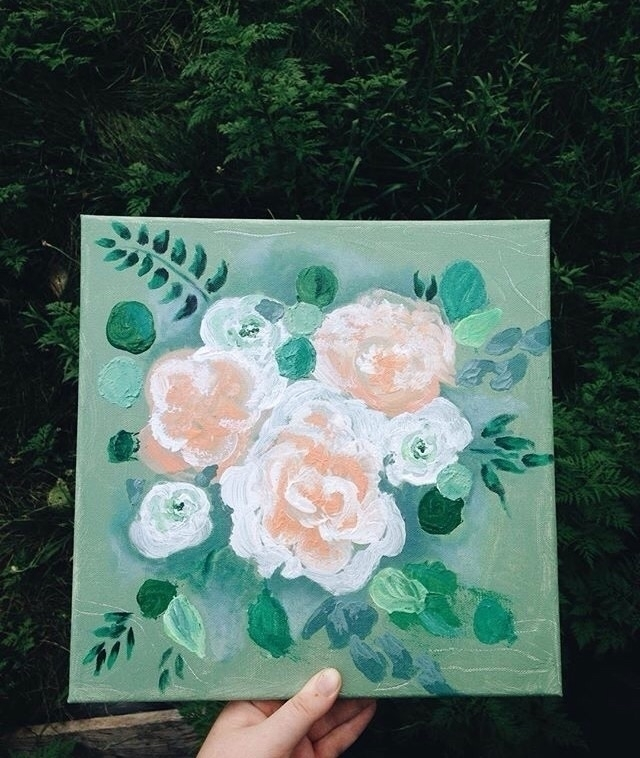 Floral Painting:herb: acrylic p - ndelswick | ello