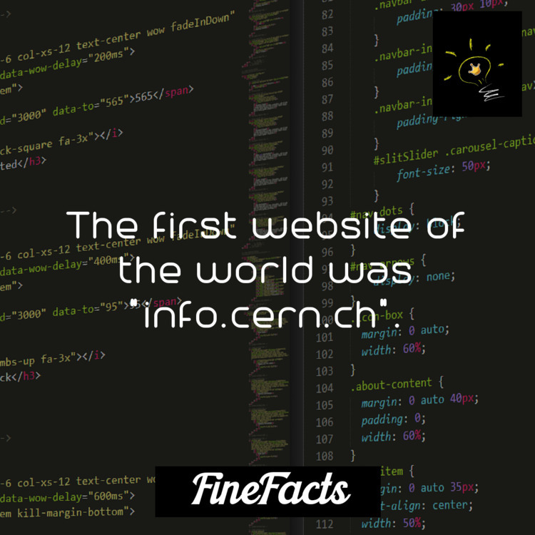 website world info.cern.ch - internet - finefacts | ello