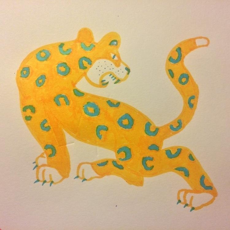 Leopardise — ecoline paper - grawl - a-y-c | ello