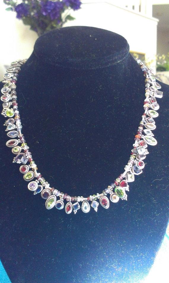 Gorgeous Multi Gemstone Mix Sil - jewelsbyvittoria | ello