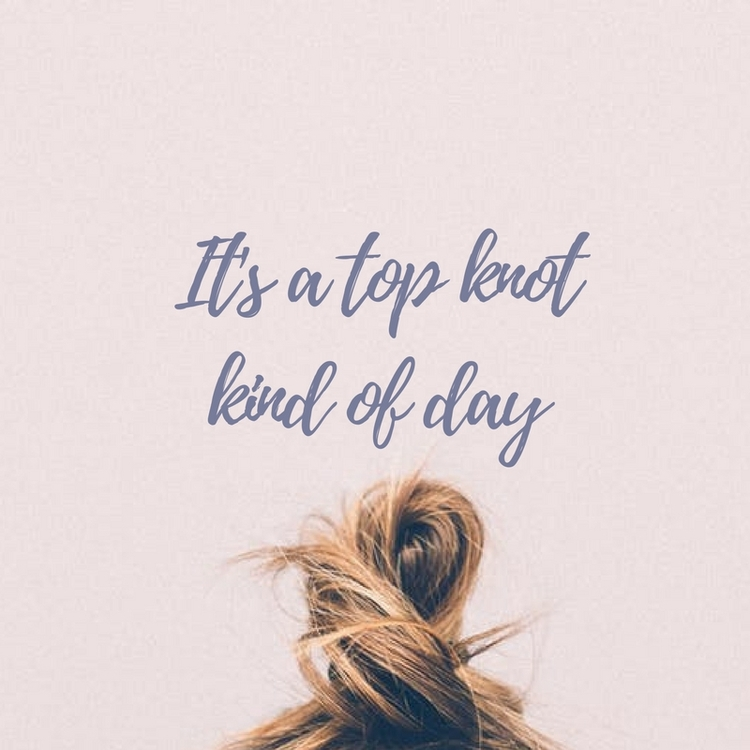 Happy Wednesday! top knot kind  - bekole | ello