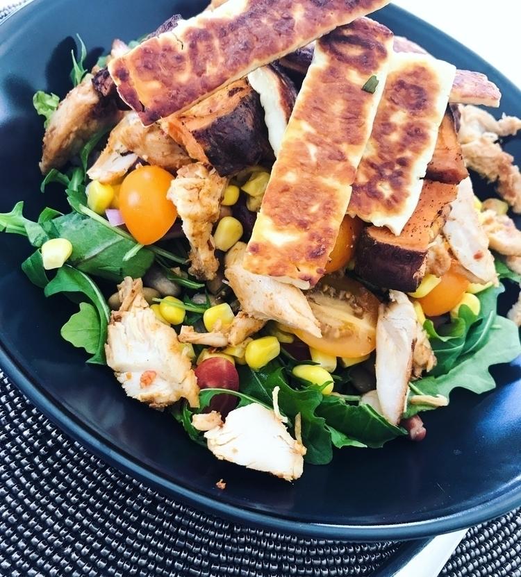 Love adding touch Haloumi salad - therealsimonemarie | ello