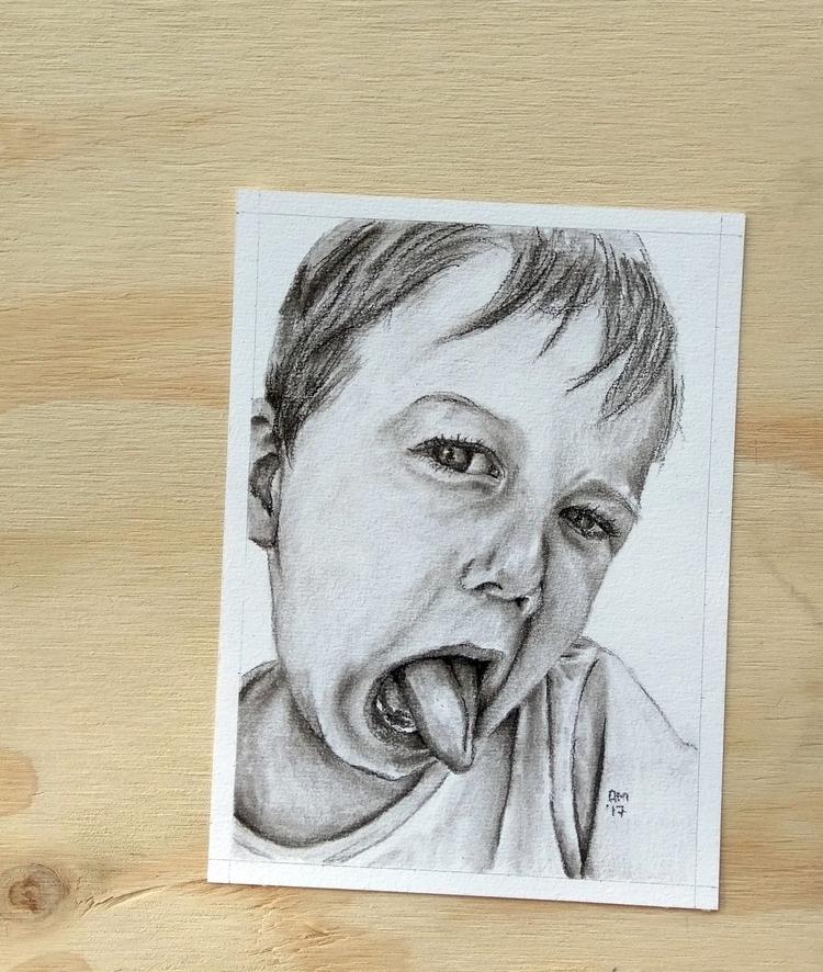 ● Charcoal Portraits introduce  - ameliamargaurite | ello