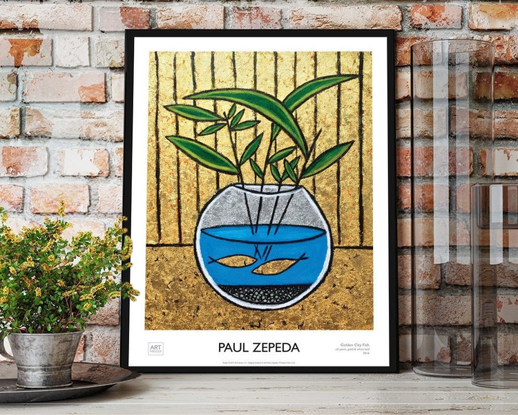 Golden City Fish Art Poster Pri - artpresser | ello