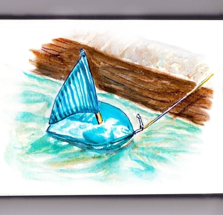 Racing Sailboats Gutter - watercolor - doodlewash | ello