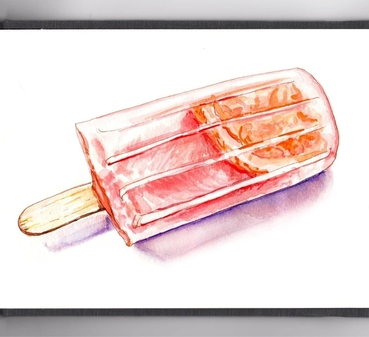 Summer Frozen Treats - watercolor - doodlewash | ello