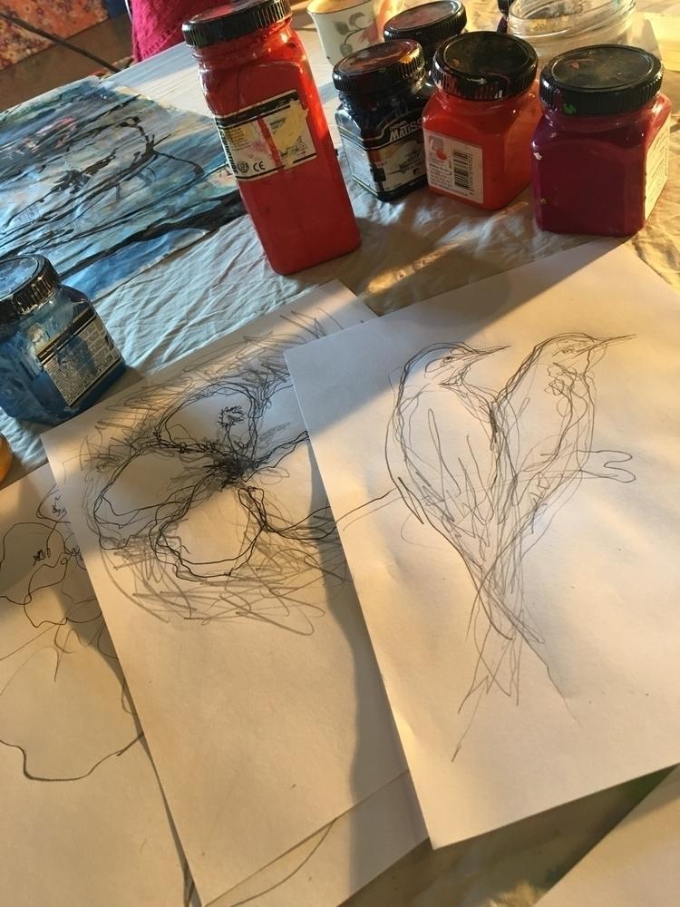 Scribbles turn - happy, art, artist - arnabaartz | ello