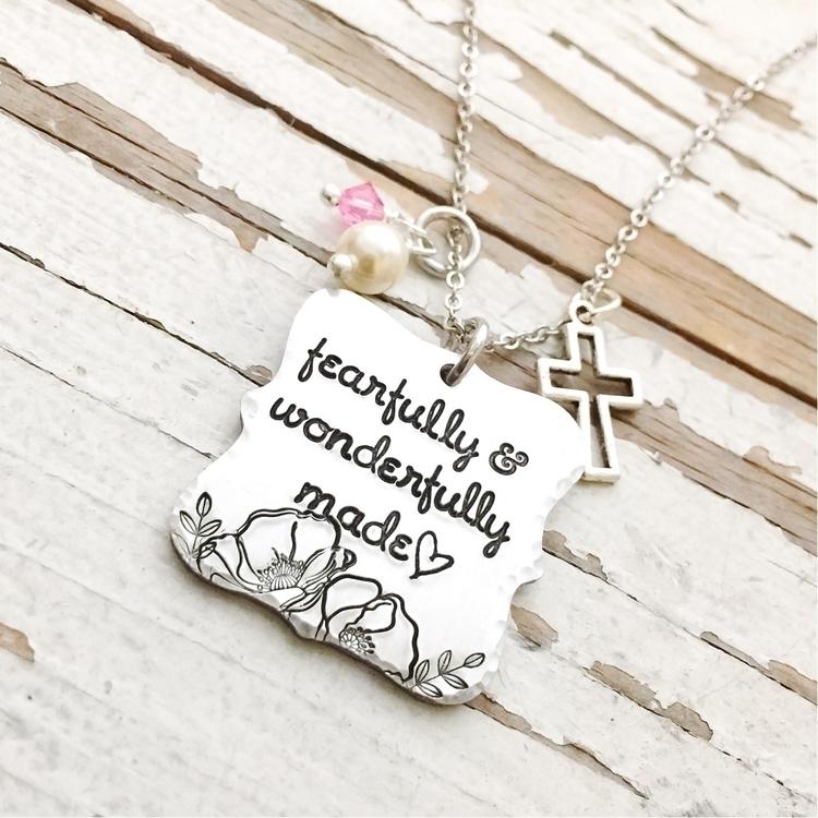 hand stamped necklace features  - faeriekissage | ello
