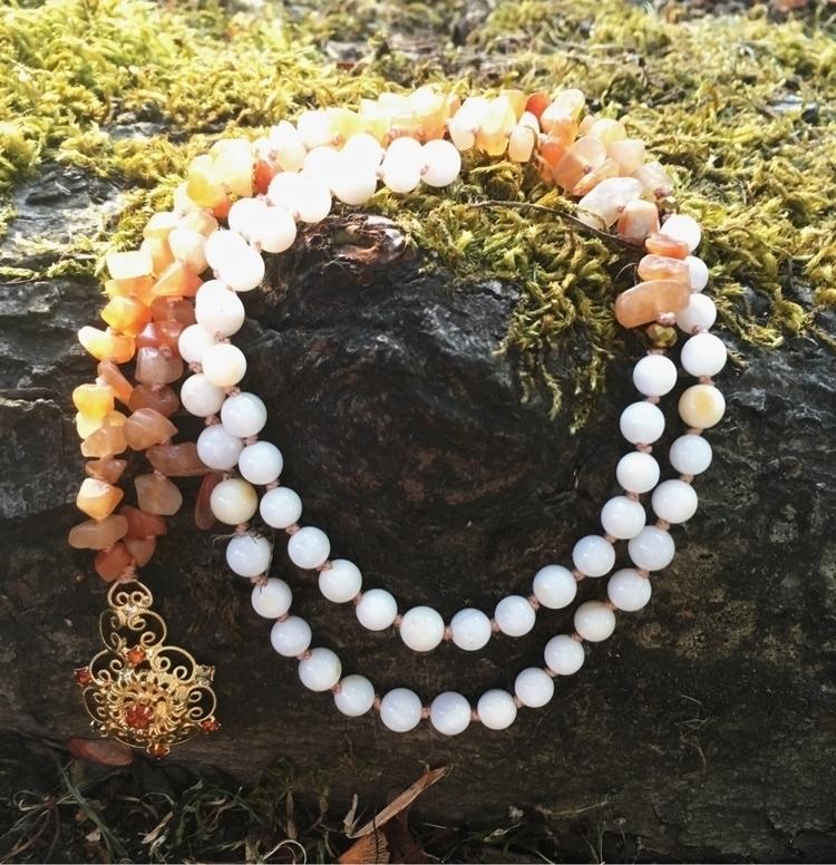 Red Aventurine beaded necklace  - gypsyxjewels | ello