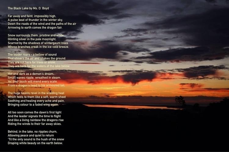 Poem late Ms. Boyd, image sunri - donni-didit | ello
