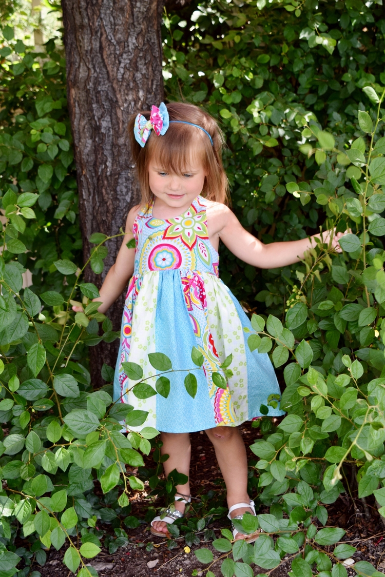 Colorful Summer halter dress ca - kattskreations   ello