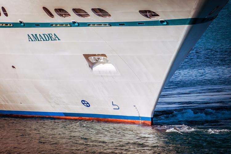 Bow bow cruise ship Amadea cuts - mattgharvey | ello