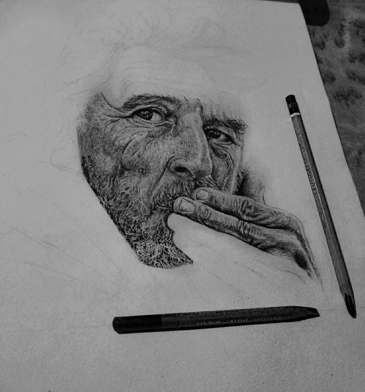 Progress shot 1 hyperrealism dr - ashutosht82 | ello