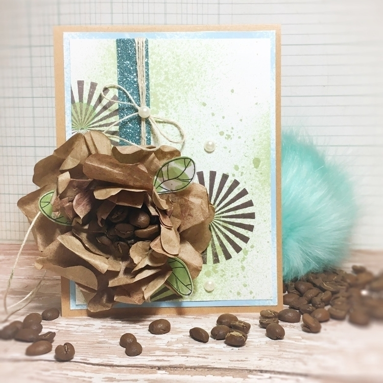 Coffee aromatic flower - cardmaking - stampinbugkerry | ello
