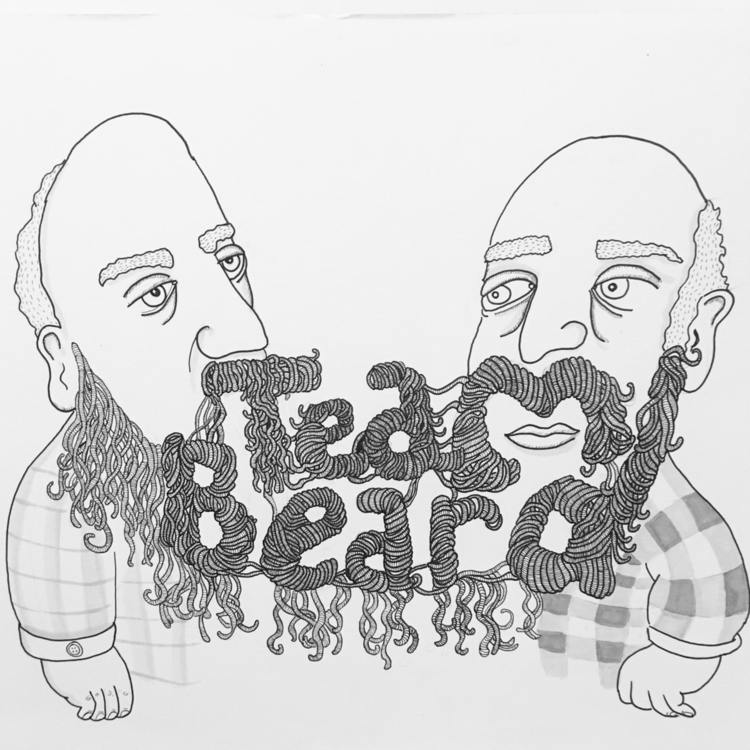 illustration, beard, penandink - audge224 | ello
