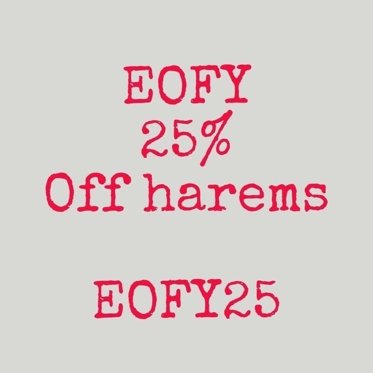 25% harems code EOFY25 shop sav - littleboubba | ello
