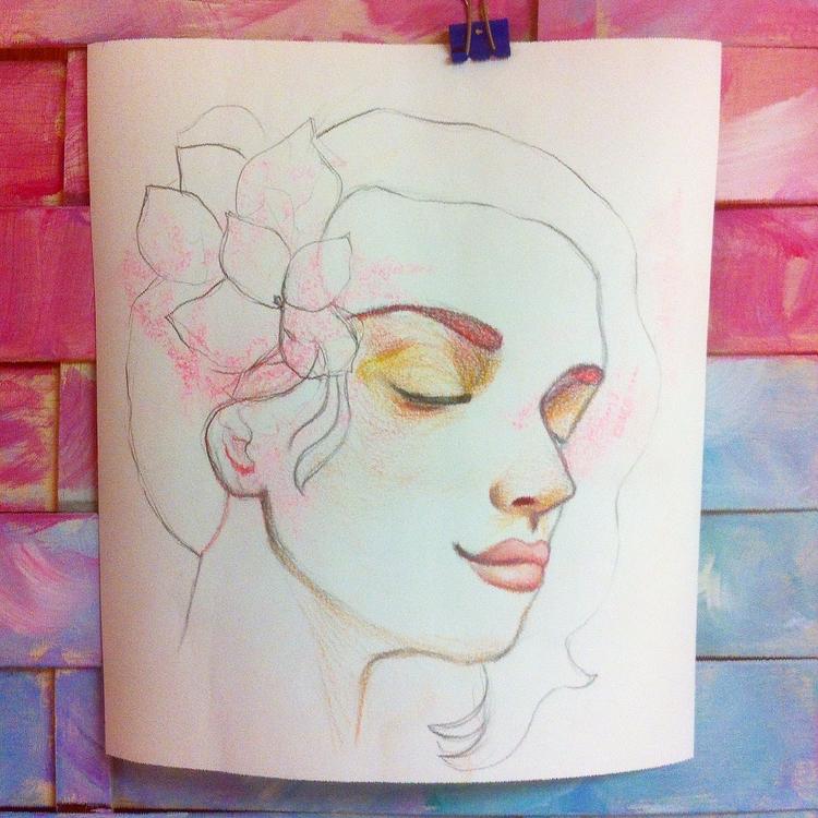 Quick sketch hand-cut paper pas - artlilliums   ello