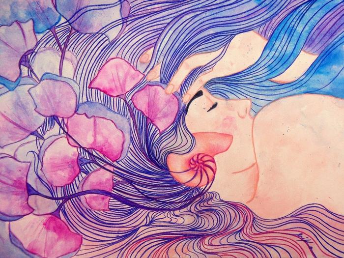 Oceanic Symphony (mixed media p - artlilliums   ello