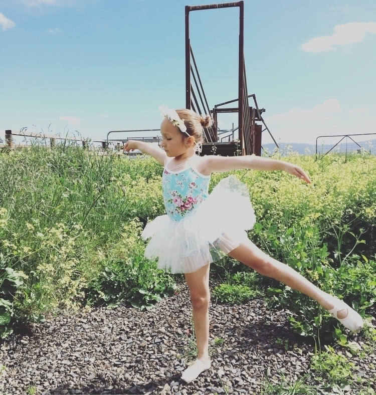 tiny ballerina, practicing hard - thebarclayadventures | ello