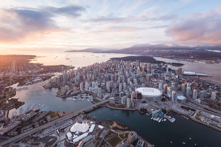 *Vancouver Sunset Skyline Aeria - tobyharriman | ello
