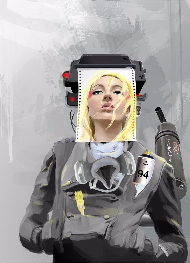 100% art Artbot CorelDRAW X7, U - lineking   ello