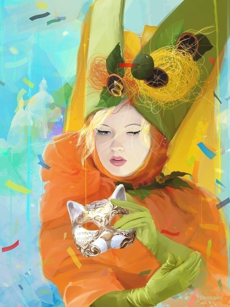 100% art Masquerade CorelDRAW X - lineking | ello