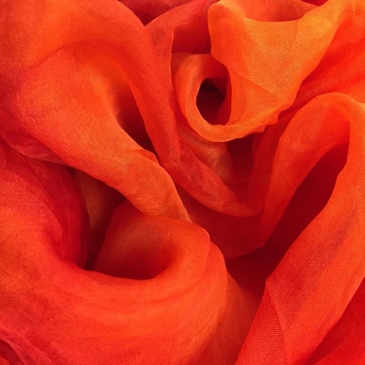 Dyed tangerine silk - handdyed, orange - carleyrosethelabel | ello