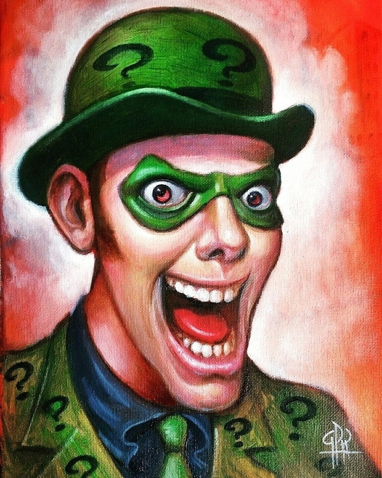 Riddler, 9×12, oil canvas - gregoryprodriguez | ello