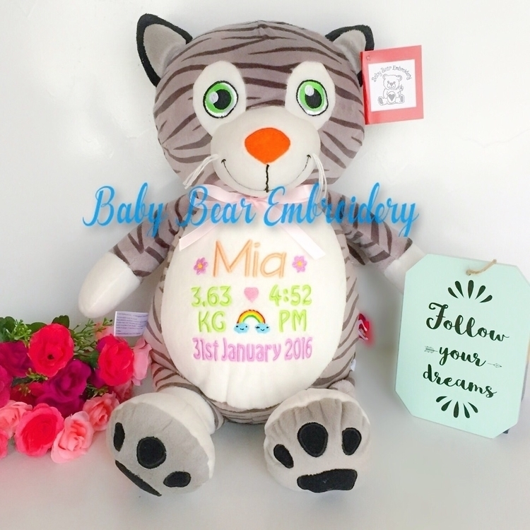 cute cat teddy pastel birth ann - babybearembroidery | ello