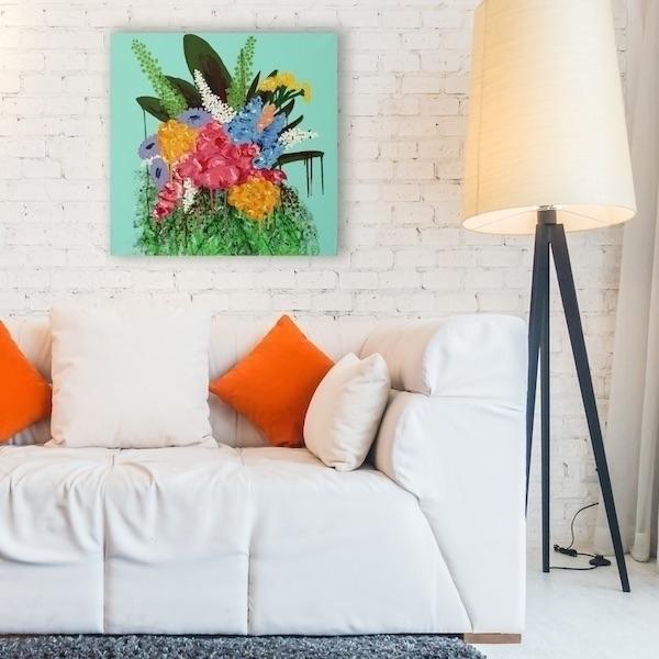 original acrylic abstract artwo - zonkt | ello