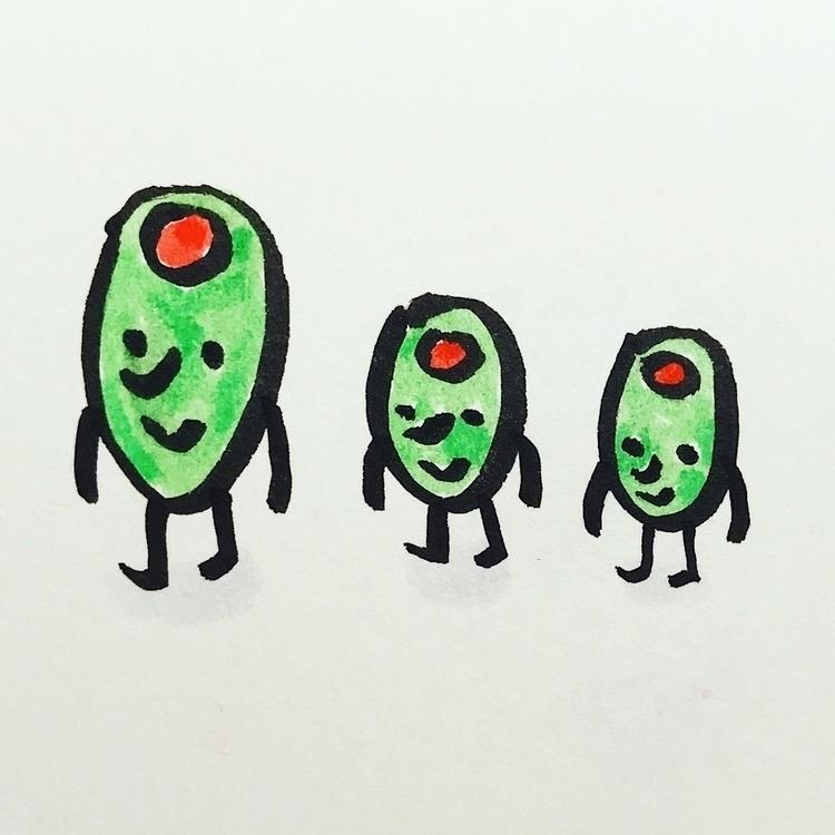 Daily Drawing Day - olive famil - wawawawick | ello