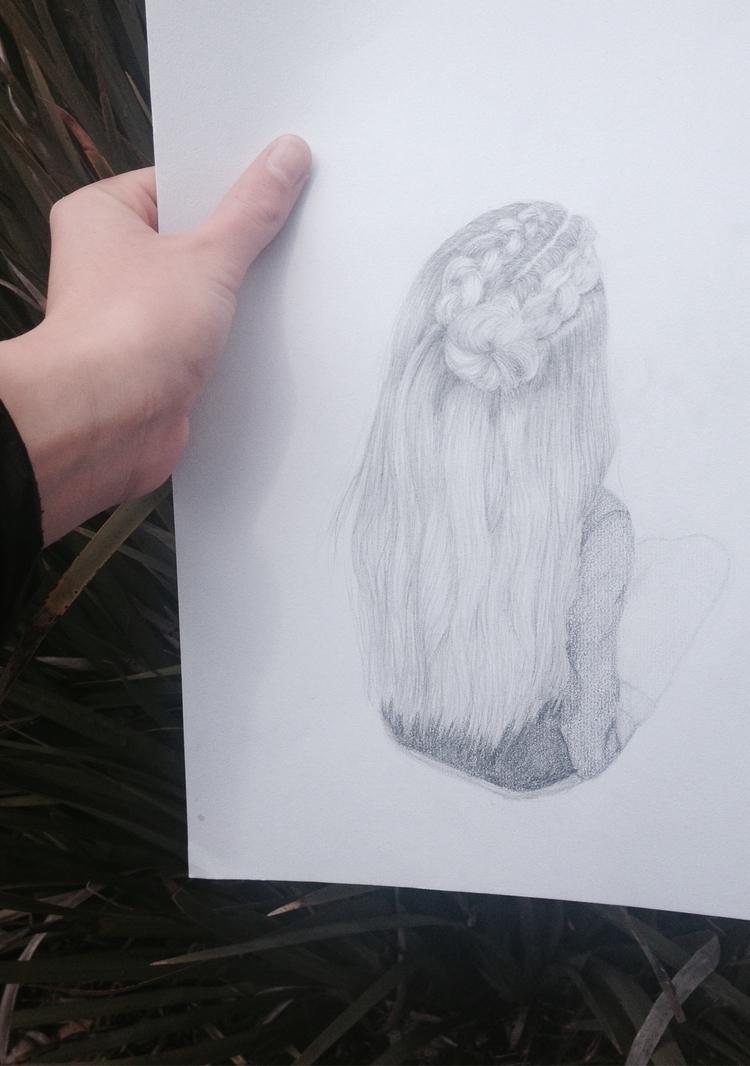 Greylead hair drawing. 2016 - isabellamoerk | ello