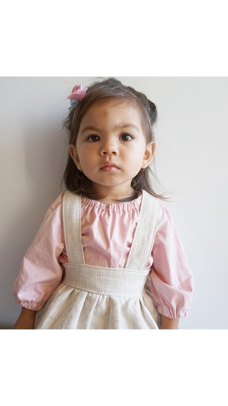 Sweet candy Evie wearing oak he - rubyowl_babywear | ello