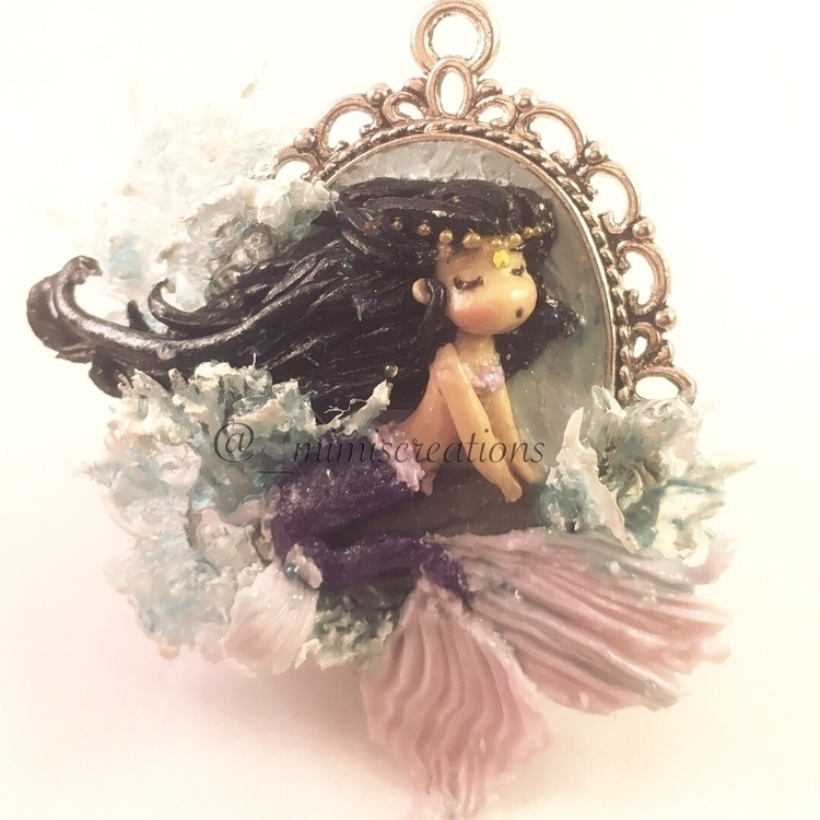 mermaid charm audition - polymerclay - mimiscreations | ello