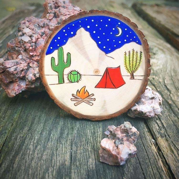 Desert camping scene inspired c - forageworkshop | ello