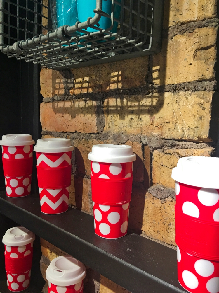 Red white takeaway coffee cups - mcgimpseymike | ello