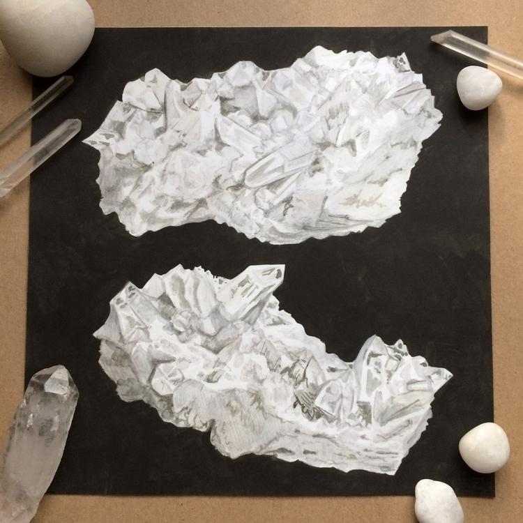 White Quartz Study. Graphite wa - evmaeve | ello