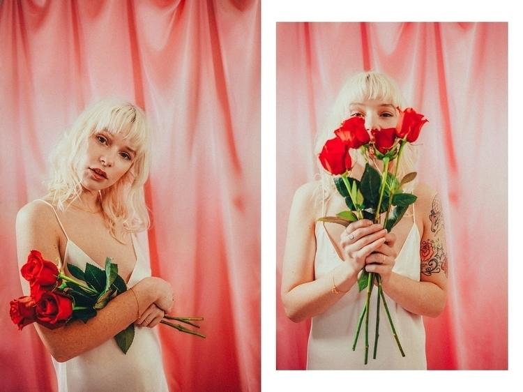 + - editorial, pink, roses, satin - lauramarii | ello