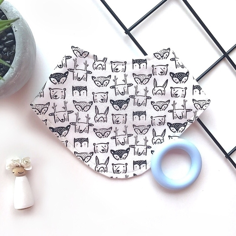 monochrome animal dribble bibs  - rose_and_thea | ello