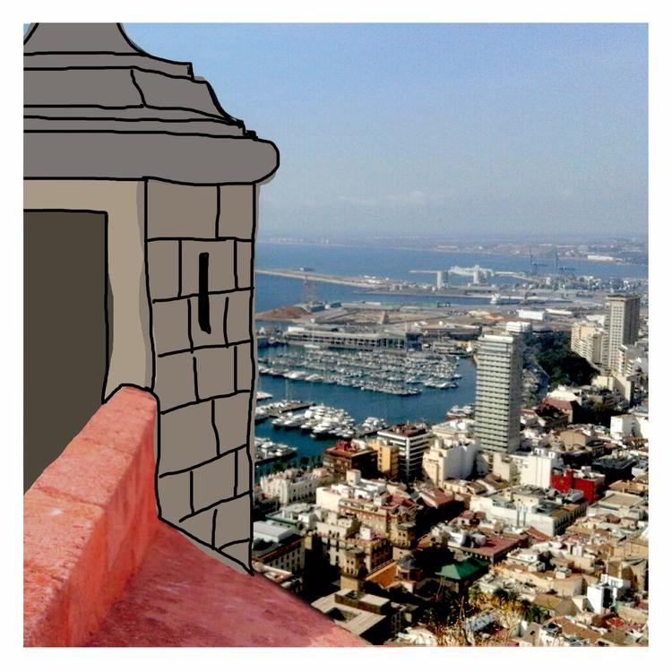 ALICANTE - spain, sketch, tower - michellepan | ello