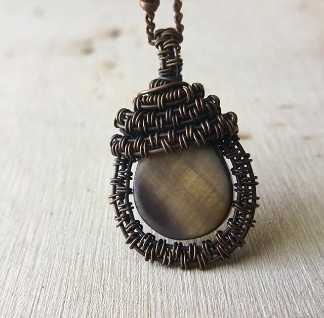 Enjoy wire wrapped mother pearl - kinddesignsonline | ello