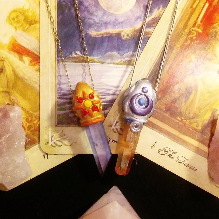 Matching pendants bf tangerine  - hyrulian_creations | ello