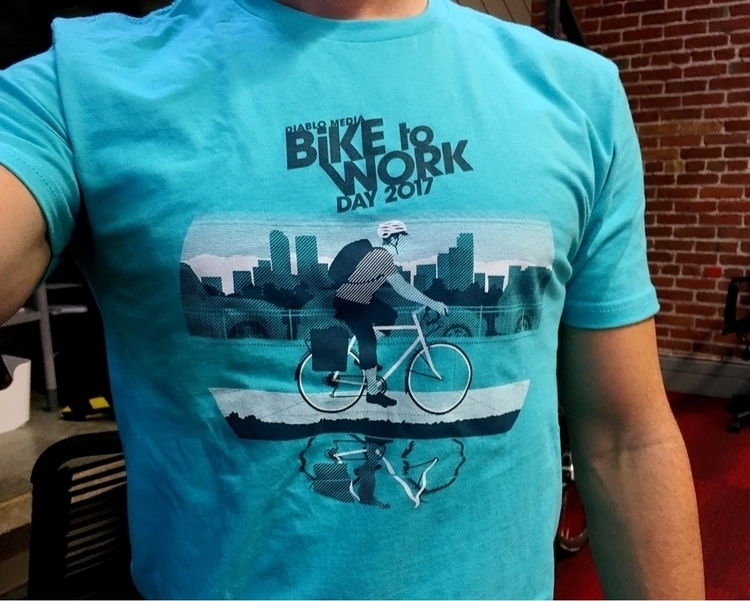 Bike Work Day Tee! great day fu - justincline | ello