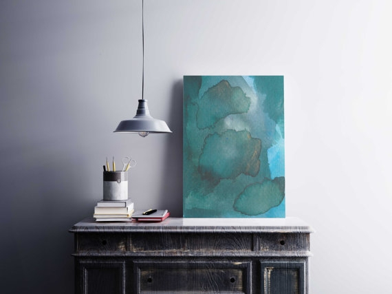 Green abstract painting - adriluna | ello