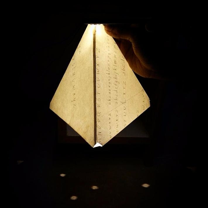 Lit tetrahedron - lamp, light, paper - ishwarasandeshcm | ello