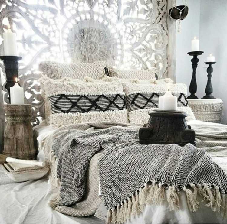 bedroom fit bohemian queen  - scandiboho#picoftheday#interior123#boho#boheme#bohemian#nordicstyle - thedustypoppy | ello